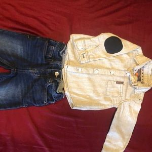 Baby boy dress up shirt and jeans